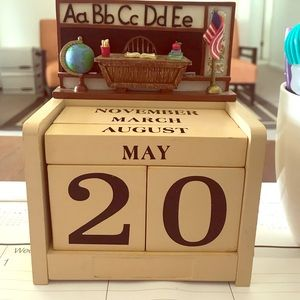 Other - ABC wood Desk calendar